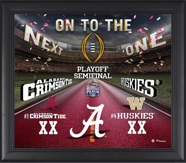 Alabama Crimson Tide Framed Peach Bowl Champions Collage