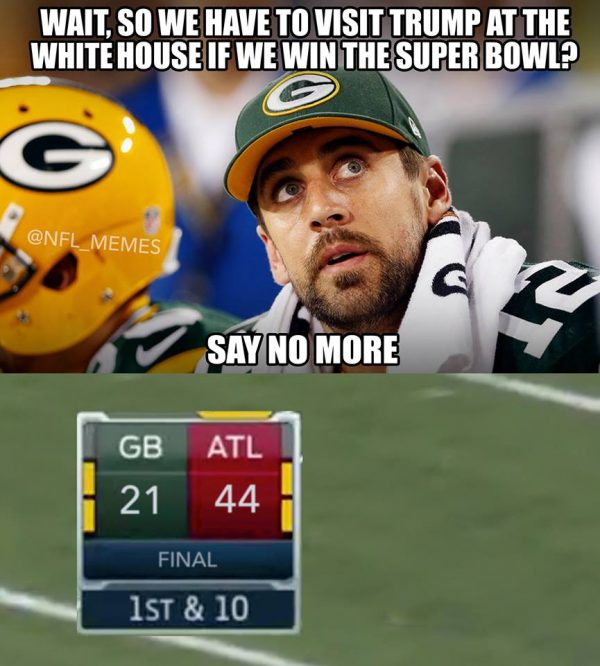 Avoiding Trump e1485197385376 30 best memes of aaron rodgers & the green bay packers shredded by