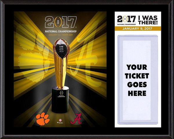 Clemson Alabama National Championship Game 'I Was There' Plaque