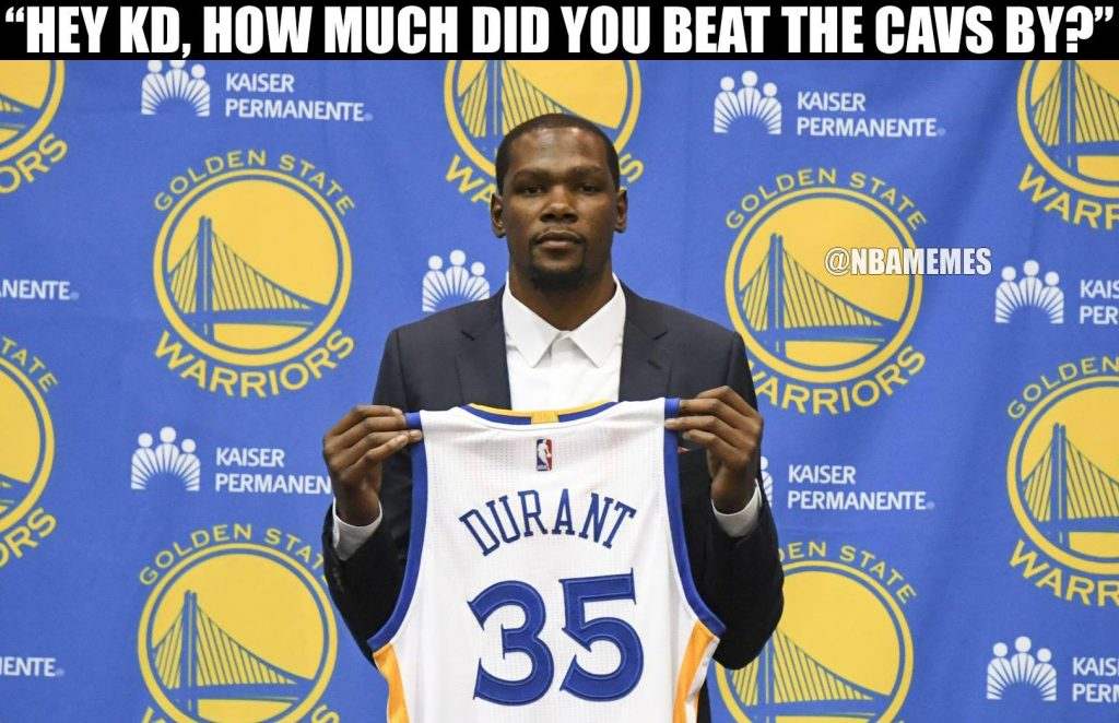 Durant 35 1024x662 16 best memes of the golden state warriors destroying lebron james