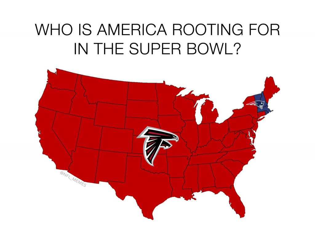 America Rooting for the Falcons 1024x819 13 best memes leading up to super bowl 51 sportige