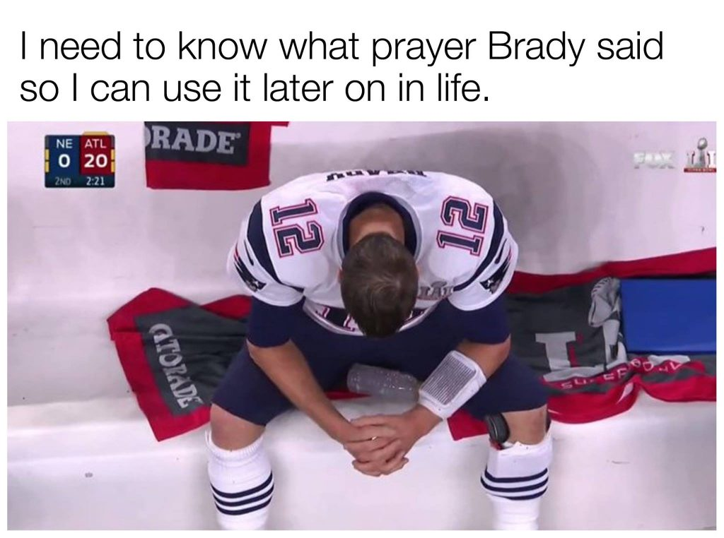 Super Bowl 51 turned out to be the kind of games memes were made to review  and make fun of. The New England Patriots and Tom Brady not showing up in  the ... 5120b02508