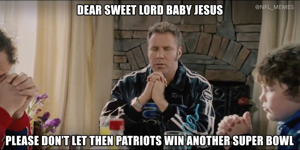 Praying the Patriots lose in the Super Bowl 1024x515 13 best memes leading up to super bowl 51 sportige