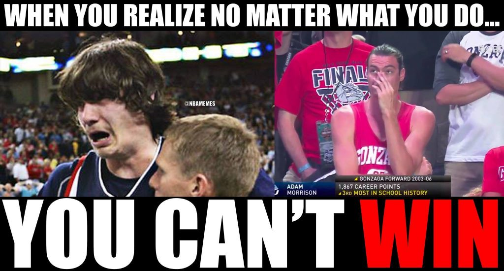Adam Morrison Crying