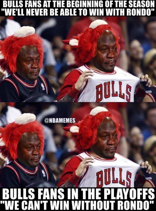 Bulls Fans Crying Jordan