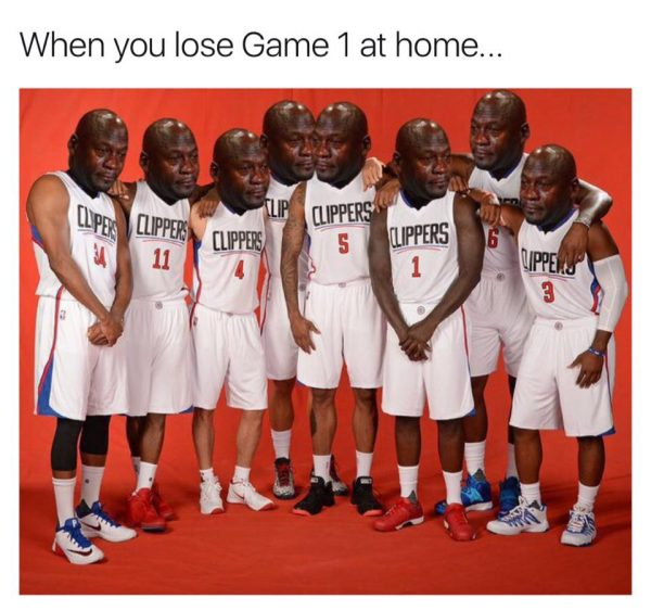 Clippers Crying Jordans