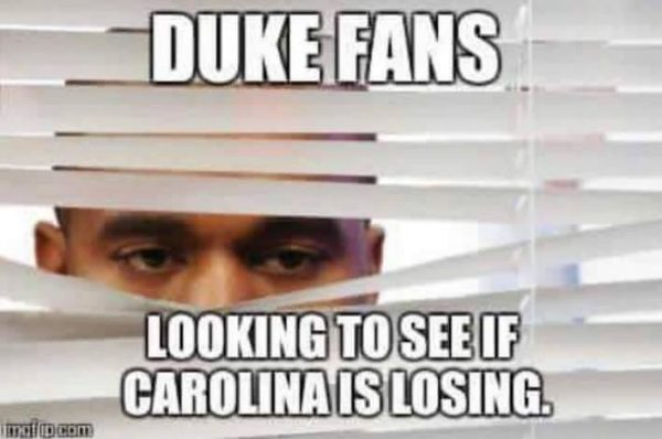 Duke Fans Checking if Carolina is Losing