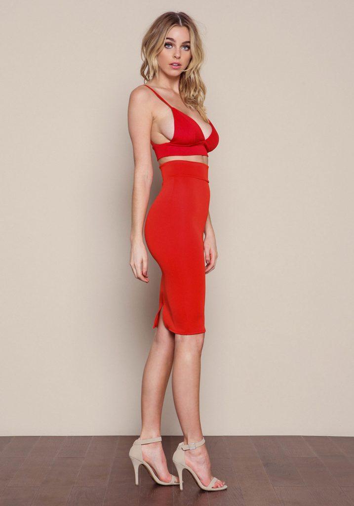 Elizabeth Turner Red Dress