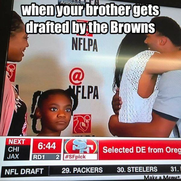 Getting Drafted by the Browns