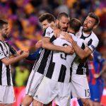 Juventus players hugging