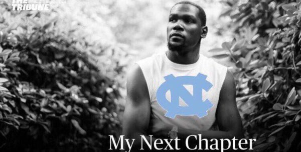 Kevin Durant UNC my next chapter