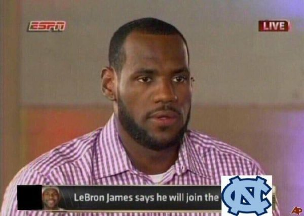 LeBron James will join UNC