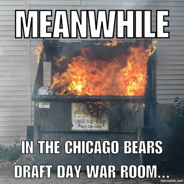 Meanwhile in the Bears War Room