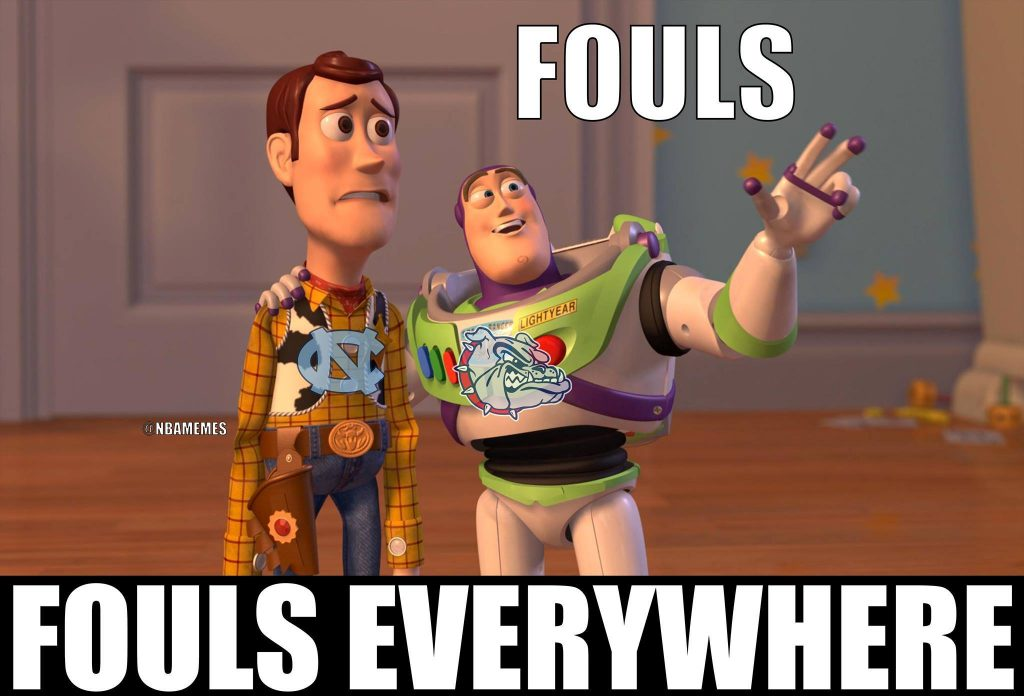 National Championship Fouls Everywhere