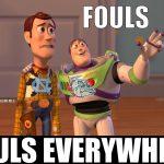 National Championship Fouls Everywhere