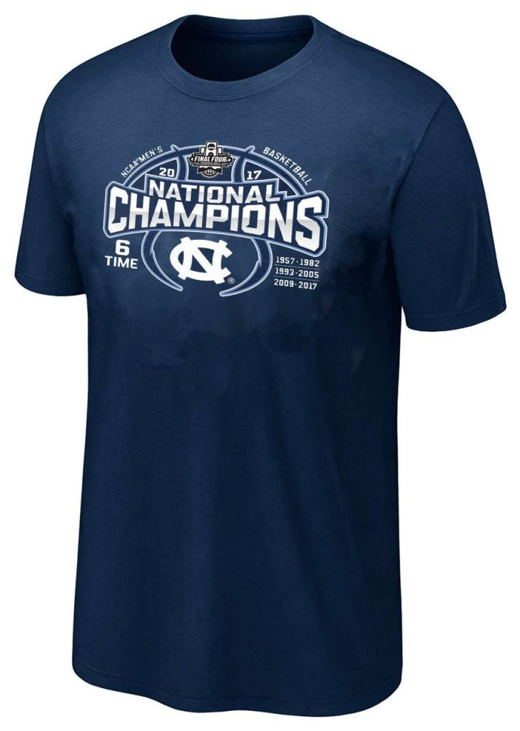 North Carolina 6 Times National Champions t-shirt