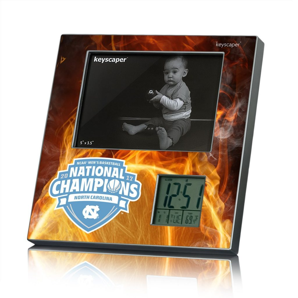 North Carolina Tar Heels 2017 Champions Picture Frame & Desk Clock