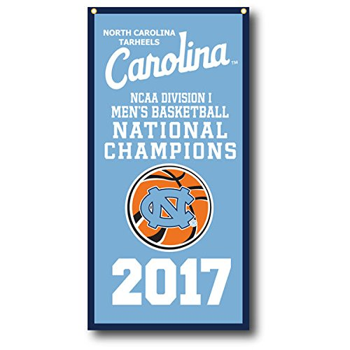 North Carolina Tar Heels 2017 NCAA Champions Vertical Banner