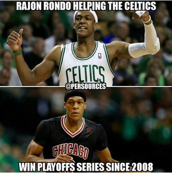 Rajon Rondo Helping the Celtics
