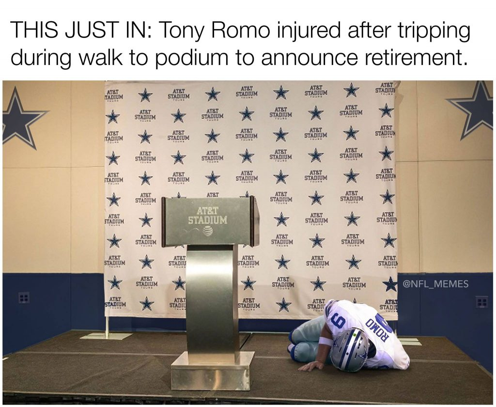 Romo tripping retirement announcement
