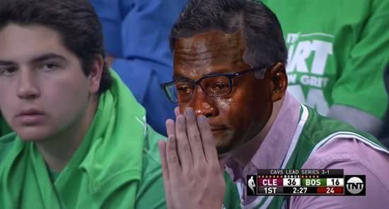 Celtics Fan Crying Jordan