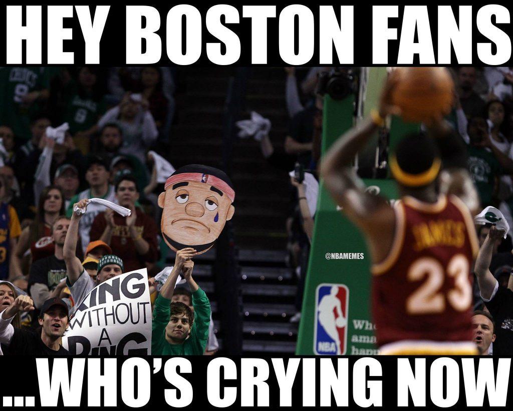 Crying Boston Fans