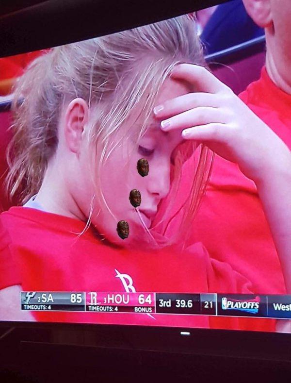 Crying Jordan Tears Rockets Fan