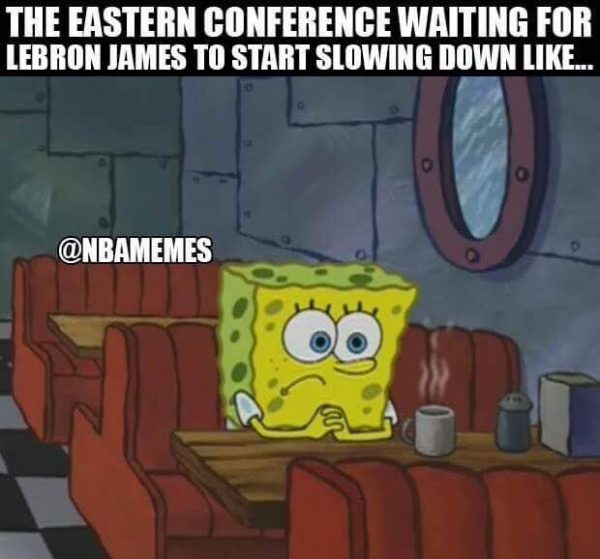 East waiting for LeBron to retire