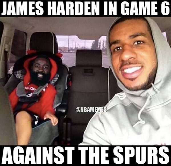 7abd1f171b92 19 Best Memes of James Harden   the Rockets Choking Against the ...