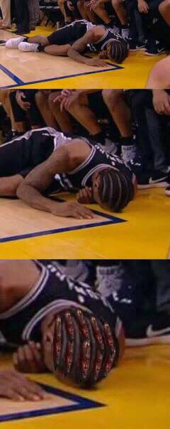 Kawhi Hair Crying Jordan