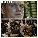 Kawhi if he dies he dies