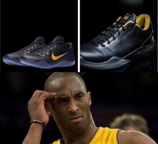 Kobe Bryant scratching his head