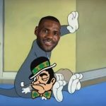 LeBron spanking the Celtics