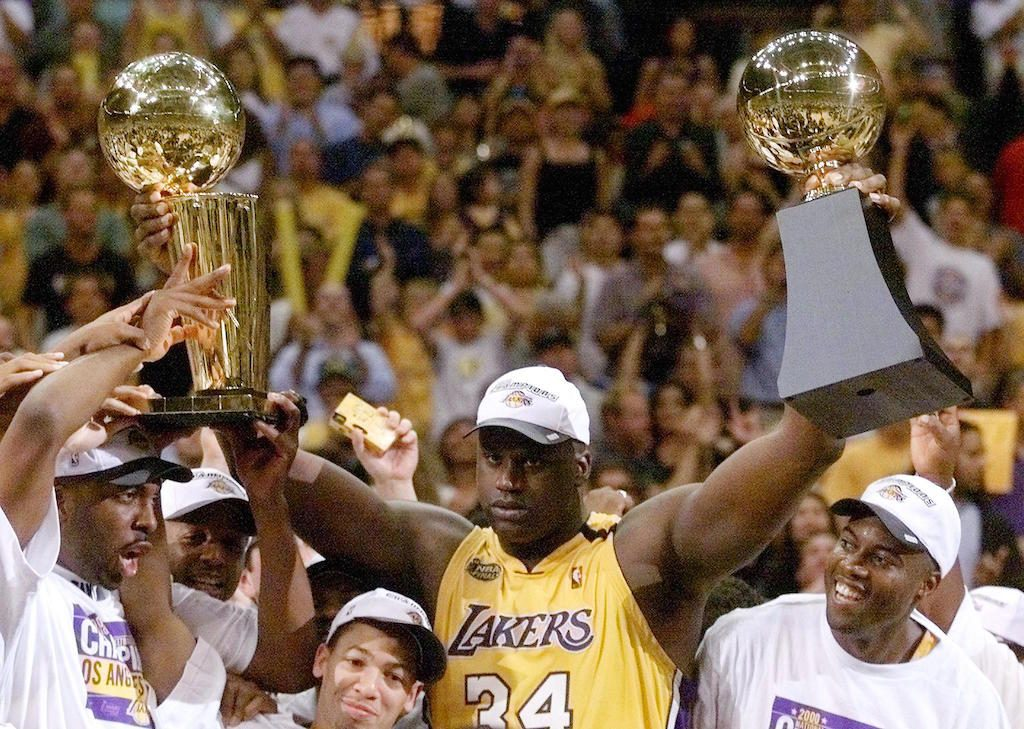 Shaquille O'Neal of the Los Angeles Lakers