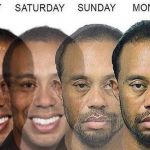 Tiger Woods on Monday