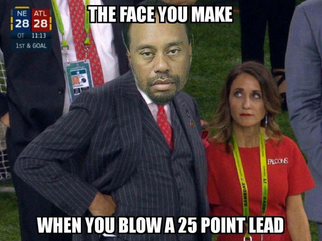Tiger blowing a 25 point lead