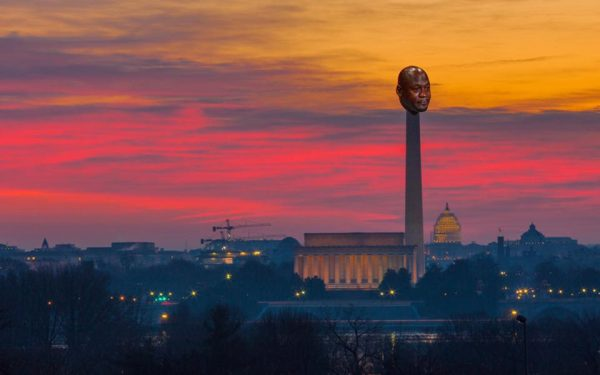Washington Monument Crying Jordan