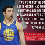 Why Zaza Injured Kawhi