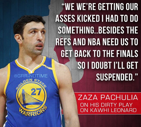 Why Zaza Injured Kawhi