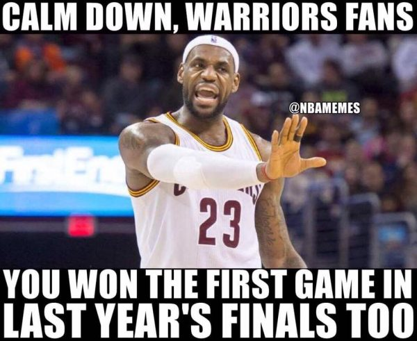 Calm Down Warriors fans