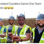 Cavaliers game 1 team photo
