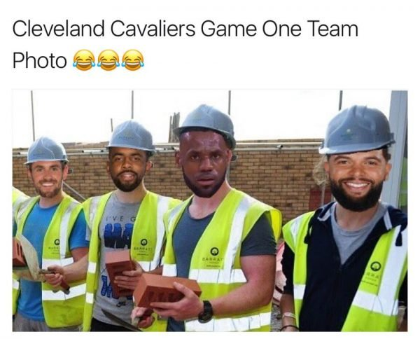 Cavaliers game 1 team photo