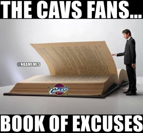 Cavs book of excuses