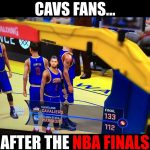 Cavs fans after the NBA Finals