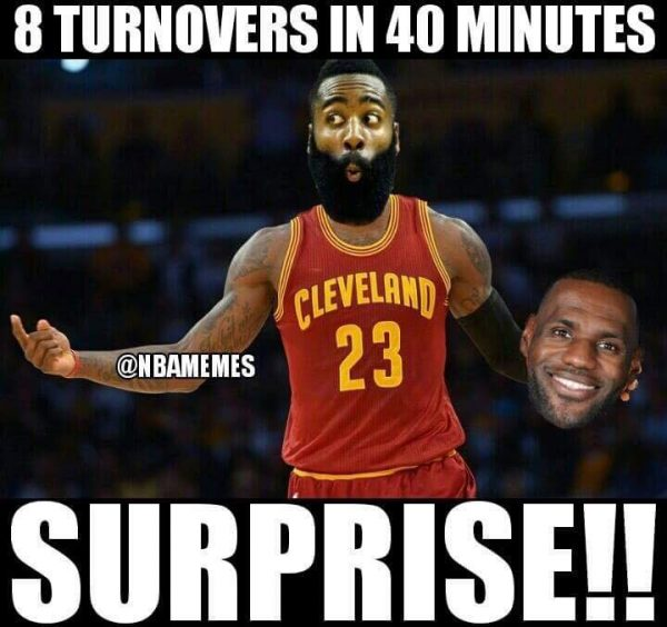 Harden in LeBron's Body