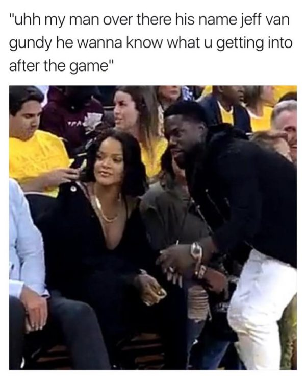 Hooking up Rihanna with Van Gundy