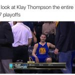 Klay Thompson laughing his way to a title