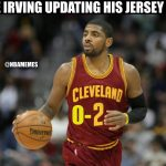 Kyrie's new jersey