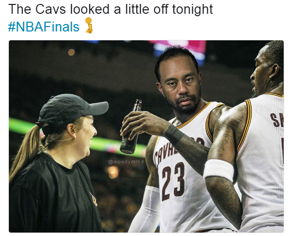 LeBron James Tiger Woods Meme