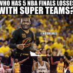 LeBron James losing